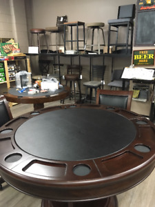 Poker Tables, Bar and Kitchen Stools at Family Recreation Store