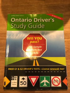 Ontario Drivers Study Guide (Large Font)