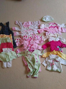 Selection of Girls 0-3 Month Clothing