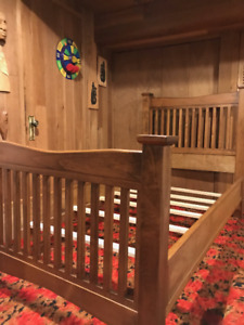 Never used solid maple single bedroom suite