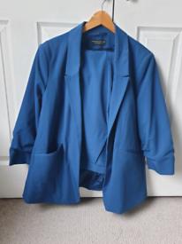 Womens Trouser and Blazer Suit Cobalt Blue Size 18