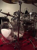 Crush Acrylic Drumset /w Black Beauty Snare (5 Pieces) & Cymbals