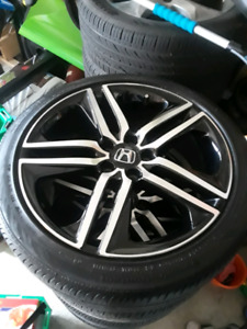 """19"""" Accord Sport Rims and tires 5x114.3, trade or sell"""