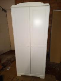 White 2 door Wardrobe only £75. CLOSING DOWN SALE. Furniture Superstor