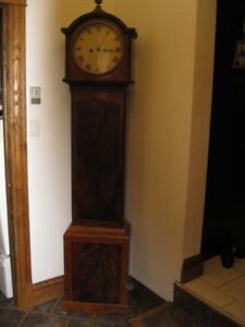 LONG CASE GRANDFATHER CLOCK FR IRELAND LATE 1700'S