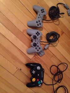 Manettes/controllers gamecube ps1