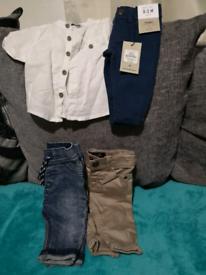 Baby boys jeans bundle.