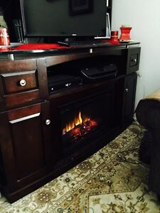 tvstand with electric fire place