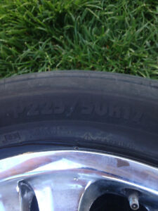 Chrome Rims with low profile tires for sale