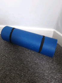 Blue camping mat