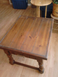 glass covered end table