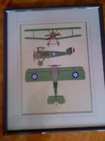 WW1 Sopwith Camel - classic WW1 fighter Framed Colour Print