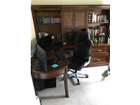 Office furniture with chair