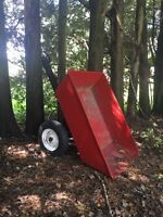 Riding lawnmower/tractor utility dump trailer