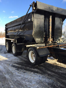 Tri-Axle Pup Dump Trailer, 17' Steel Box $15,500