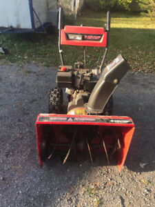 snowblower can be seen running in napanee has electric start