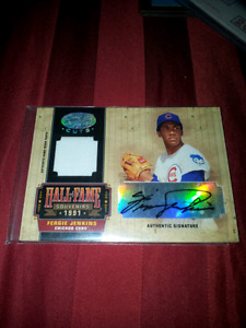 Donruss 1991 Signed and Certified Jersey Cut Fergie Jenkins Card