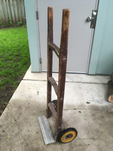 Vintage T Eatons Wood Dolly Hand Truck Cart