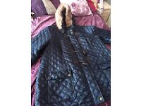 Size 24 smart navy Blue jacket excellent condition