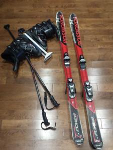 Rossignol Carve X Skis + Boots + Poles