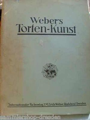 12295 Weber's Tortenkunst ein Vorlagen- Album mit 40 Tafeln im Vierfarbendruck