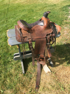 Hereford Brand Roping Saddle and accessories