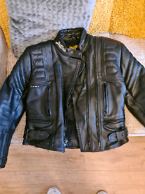 Ladies Leather biker jacket and trousers