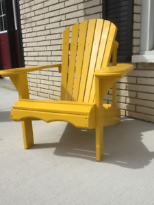 Beautiful Wood Muskoka Chairs. Variety of colours.