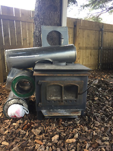 Wood Stove and Insulated Pipe