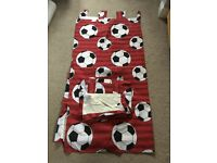 Next tab top curtains red football