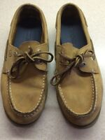 Boys tan sperry topsiders size 4.5 used great condition