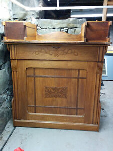 Antique Solid Wood Murphy Bed