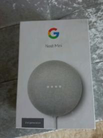 Yes 18/9 Google nest mini speaker 2nd gen in sealed unopened box.