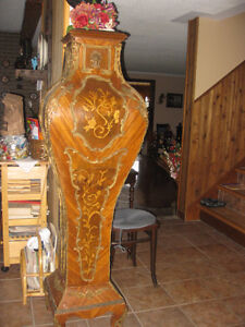 very rare antique huge handcrafted flower stand