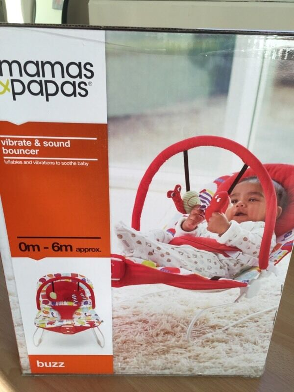Mamas Papas Vibrate Sound Bouncer Exc Condition With Box