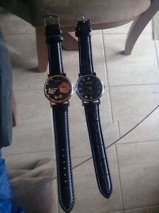 2 Black Watches-Mint