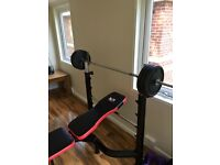 WER sports bench press + 60kg and bar