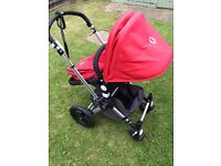 Bugaboo cameleon red fabric