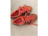 Orange adidas hamburgs size 6
