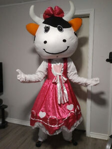 Adult or teen cow mascot Halloween costume