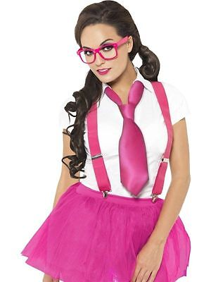 Ladies Glam Geek Kit Sexy School girl Nerd Hen nigt dressing up kit glasses - Sexy Geek Kostüm