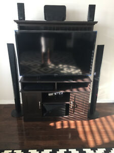TV Stand with Storage - Brown - $60