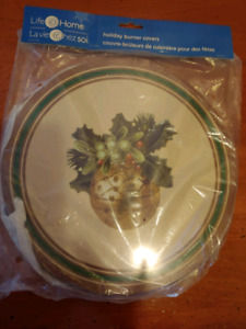 Holiday Stove Burner Cover Set of 4. .