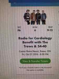 TREWS & 54-40 Tonight Friday Oct 21, 2016 Casino Rama