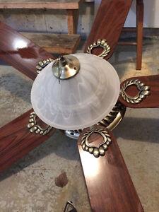Ventilateur de luxe en bois