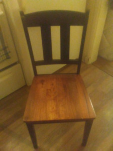 Delivered for wooden chairs