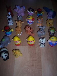 Figurines PERSONNAGES ET ANIMAUX Little People: 3$ chacune