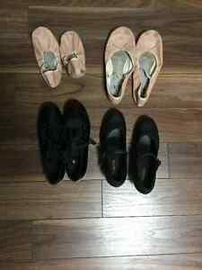 Ballet and jazz shoes - various sizes