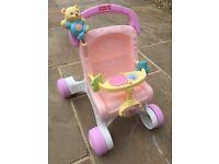 Fisher Price basic pink walker
