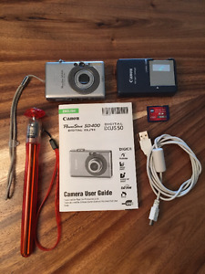Canon PowerShot SD400 Digital Camera and Travel-Size Tripod